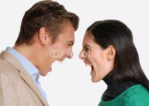pareja enojada